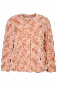 wirl short fake fur jacket in 3 kleuren