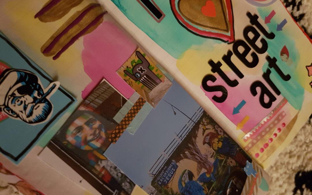 "DIY – Midori art journal page ""Street art"""