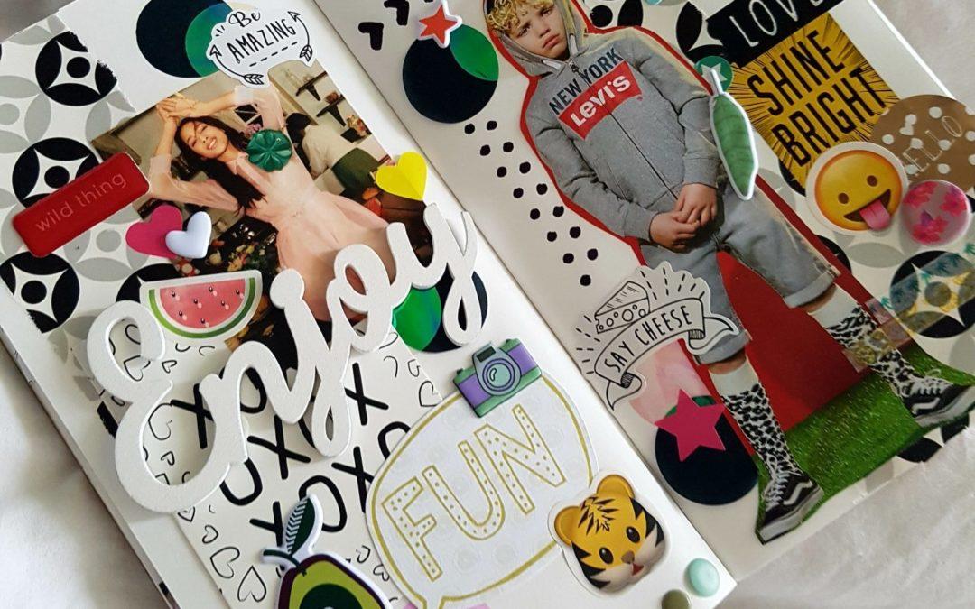 DIY: Art Journal spread met #echtepostiscool cadeautjes