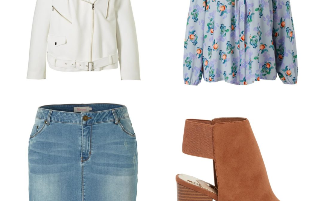 Plus Size Fashion Friday: Denim skirt