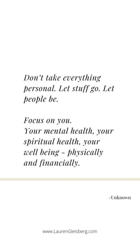 Focus on you